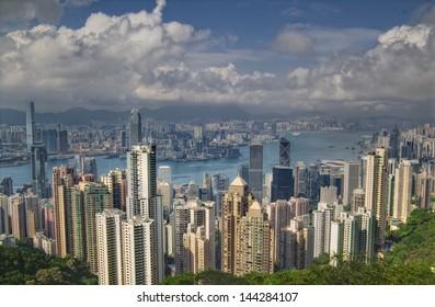 Amazing view of Hong Kong
