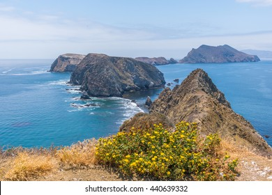 Amazing view from Inspiration point, Anacapa island, California.