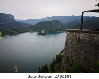 Amazing view of lake Bled, from Bled Castle, Slovenija.