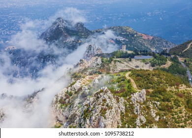 Amazing view of landscape near Saint Hilarion Castle, Girne, North Cyprus