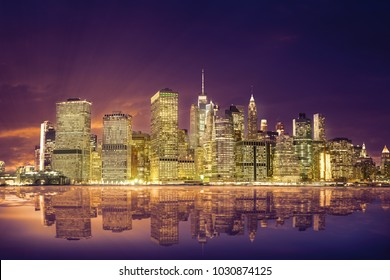 amazing view of the Lower Manhattan Financial District