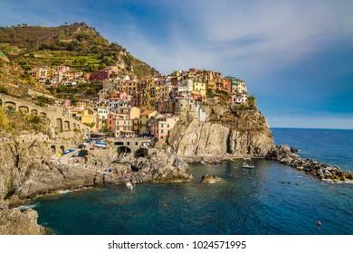 Amazing View Of Manarola - Cinque Terre, La Spezia Province, Liguria Region, Italy, Europe
