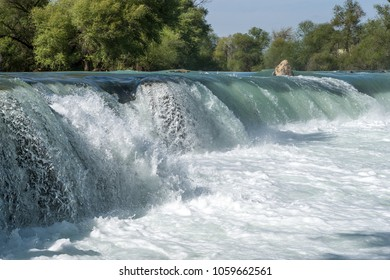 Amazing view of Manavgat waterfall in Antalya, Turkey.