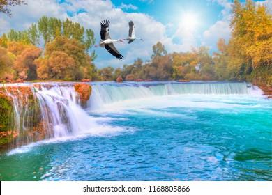 Amazing view of Manavgat waterfall - Antalya, Turkey