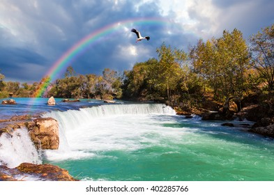 Amazing view of Manavgat waterfall in Turkey