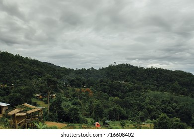 Amazing view of mountain autumn Thailand mountains landscape, location Doi Luang Chiang Dao in Chiang Mai, Thailand