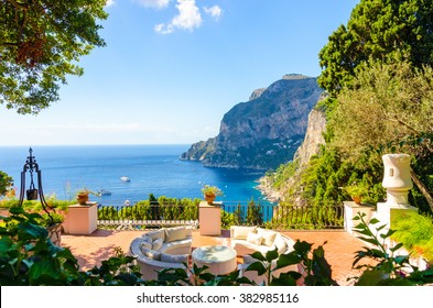 amazing view on Capri island, Campania, Italy