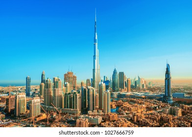 Amazing view on Dubai downtown skyline, Dubai, United Arab Emirates