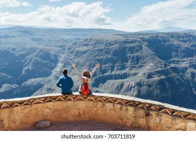 Amazing view on the edge of the Canyon Soncho/ Chachapoyas/ Peru/ south america