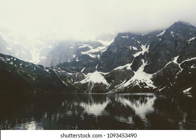 Amazing view on Vysoke Tatry mountains near Morskie Oko in Poland