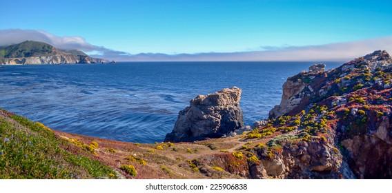 Amazing view of Pacific coast, California.
