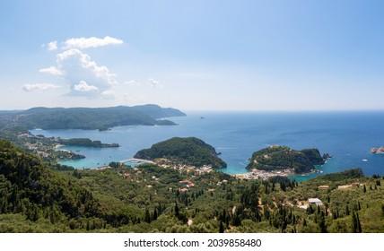 Amazing view to the Palaiokastritsa beach, Corfu, Greece
