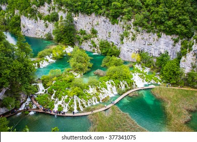 Amazing view of Plitvice National Park, Croatia - the Lower Lake