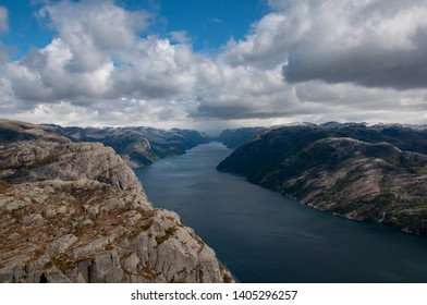 An amazing view from the Pulpit Rock (Preikestolen), Norway
