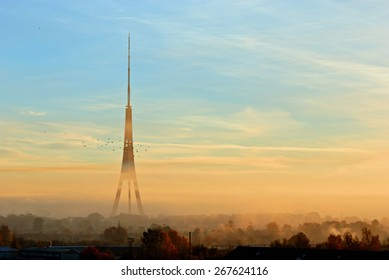 Amazing view of Riga Radio and TV Tower, Latvia