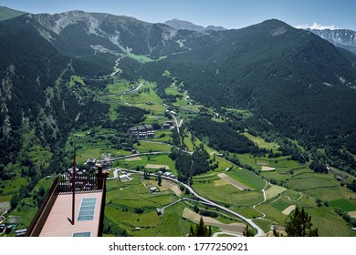 amazing view from the Roc Del Quer viewpoint in the Andorran Pyrenees