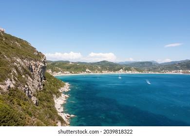 Amazing view to the Saint George Pagon beach, Corfu, Greece