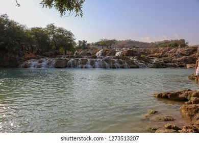 Amazing View of salalah waterfall , Salalah is the capital city of southern Oman's Dhofar province