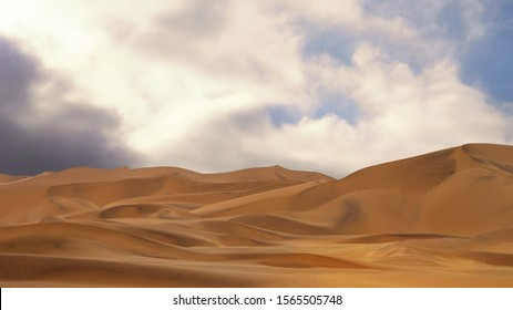 Amazing view of the sand dunes in Namib Desert. Artistic picture. Beauty world.