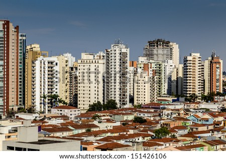 Amazing view of Sao Paulo City , Brazil