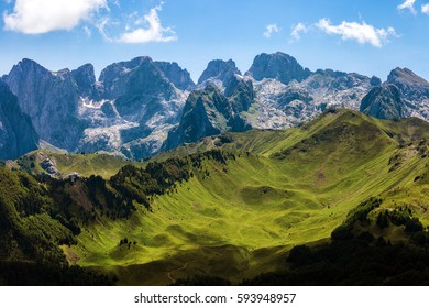 Amazing view of Serene Mountain Valley, Prokletije National Park, Montenegro