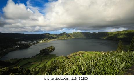 "Amazing view of Seven Cities Lake ""Lagoa das Sete Cidades""in São Miguel Island - Azores - Portugal"