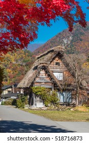 "The amazing view of Shirakawago village in autumn season. The unique traditional japanese farmhouse called ""Gassho"" makes the village have been registed as 6th world heritage of Japan."
