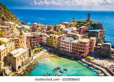 Amazing View Of Vernazza - Cinque Terre, La Spezia Province, Liguria Region, Italy, Europe