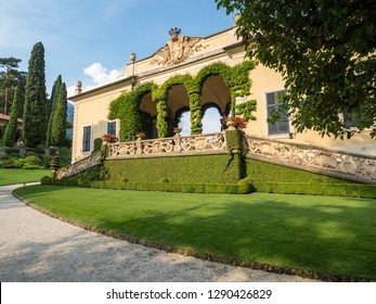 Amazing villa del Balbianello, famous villa in the comune of Lenno, overlooking Lake Como. Lombardy, Italy. September, 2018