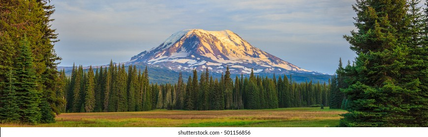 Amazing Vista of Mt. Adams in Washington State