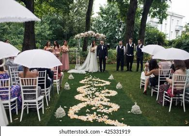 Amazing wedding ceremony in the park