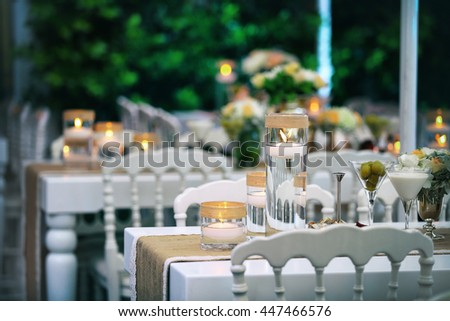 Amazing Wedding Decor Table Stock Photo Edit Now 447466576