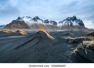 amazing wild landscape of stockiness, iceland