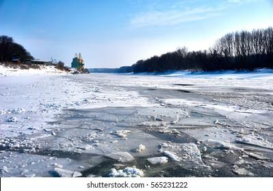 Amazing winter landscape! Sunny day very beautiful!