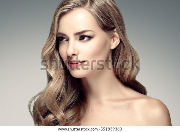 Photo de stock de Amazing Woman Portrait Beautiful Girl Long ...