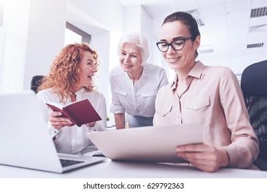 Amazing women working very attentive