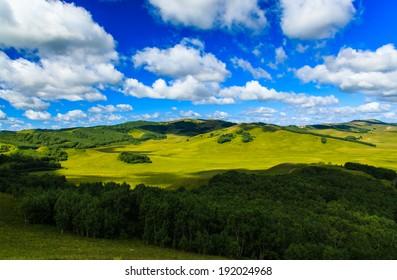 amazing Wulanbutong grassland in inner Mongolia,China