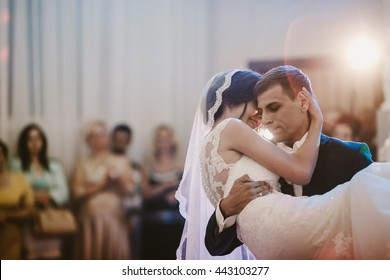 amazing young  couple dancing the first dance