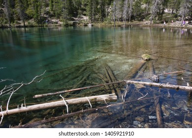 The amazingly clear, blue water at Grassi Lakes - Alberta, Canmore