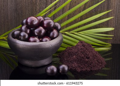 The amazon acai fruit (Euterpe oleracea)