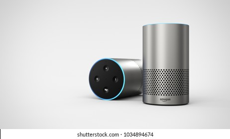 Amazon Echo 2ndgen -silver duo -total -right sided