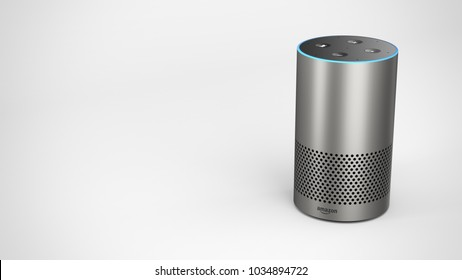 Amazon Echo 2ndgen -silver -total -top front -right sided
