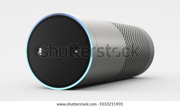 Amazon Echo Plus - silver - laid - centered