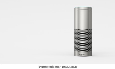 Amazon Echo Plus - silver - total -right sided