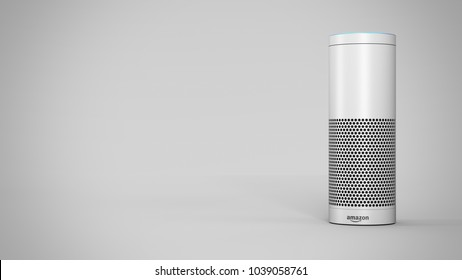 Amazon Echo Plus -white - total -front -right sided