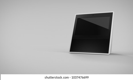 Amazon Echo Show -white -total -front -right sided