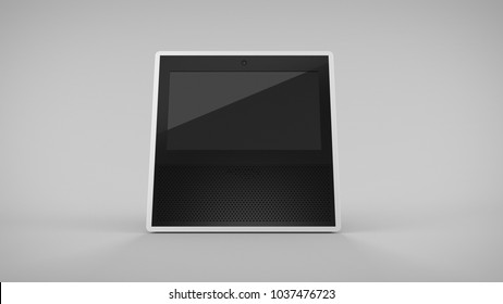 Amazon Echo Show -white -total -front -centered