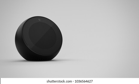 Amazon Echo Spot -black -total -front -left sided