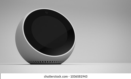Amazon Echo Spot -white -hero -right sided