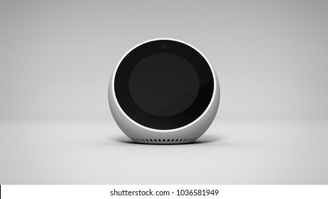 Amazon Echo Spot -white -total -front -centered